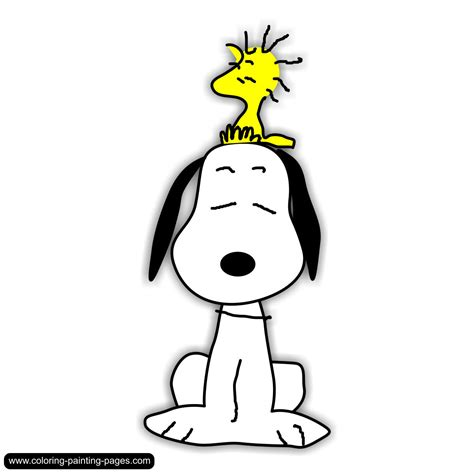snoopy clipart coloring pages comics free downloads