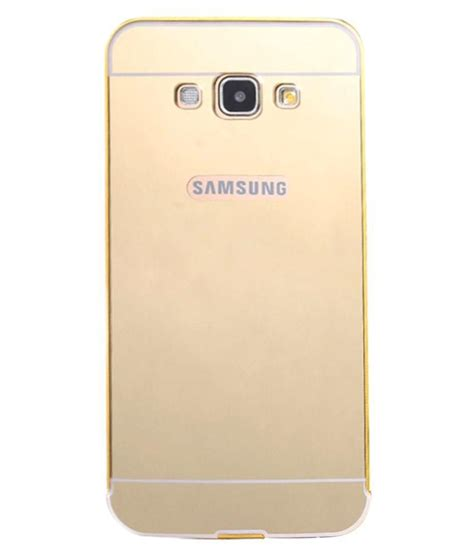 Mirror Samsung A5 samsung galaxy a5 2016 mirror back cover by sni golden plain back covers at low