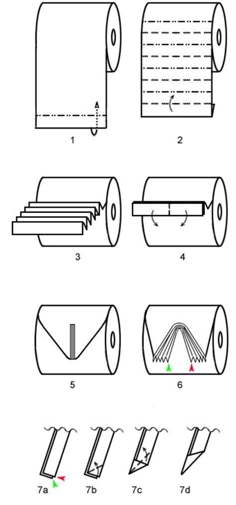 How To Make A Paper Toilet - toilet paper origami pleat fold