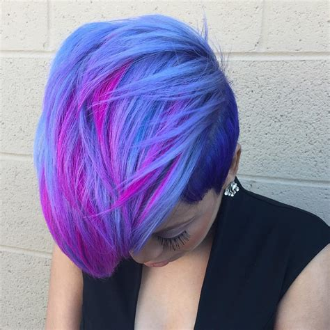 And Blue Hairstyles by 20 Blue And Purple Hair Ideas