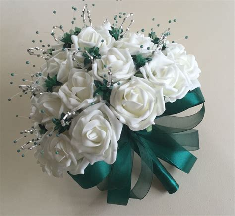 Flower Posies Weddings by Artificial Wedding Flowers Brides Posy With 3