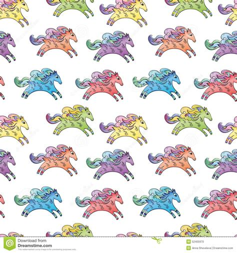 cute baby pattern stock vector image of horse collection vector baby horse pattern stock vector image 52405970