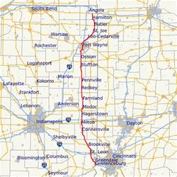 state road map indiana state road 1