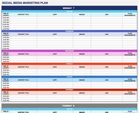 Marketing Templates free marketing plan templates for excel smartsheet