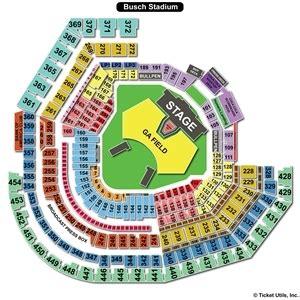 detailed seat map of busch stadium busch stadium seating charts