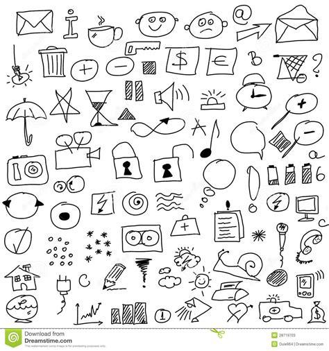 doodle draw icon pack apk set icon stock photos image 28719703