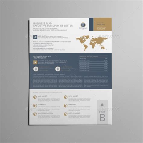 Memo Template Graphicriver business plan executive summary us letter by keboto