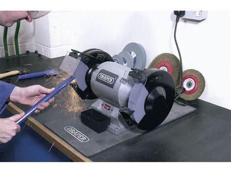 draper bench grinder draper ghd200 230v 200mm heavy duty bench grinder