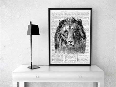 lion home decor lion poster european home decor black and white by