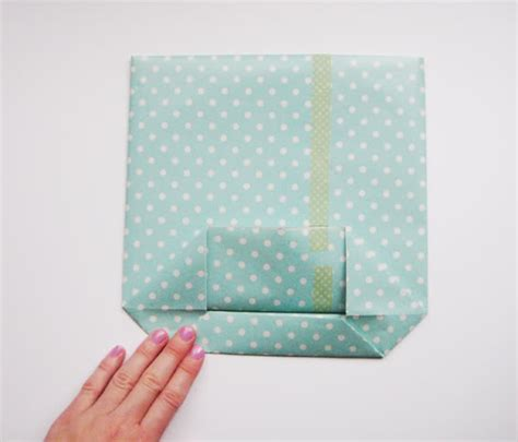 How To Fold Paper Into A Bag - hello sandwich paper gift bag tutorial