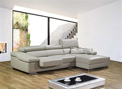 piece small leather sectional sofa with reclining back