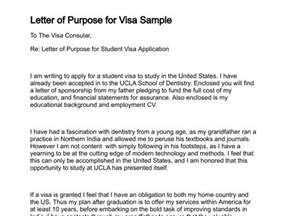 how to write a letter of visa application