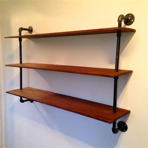 wall mounted bookshelf reclaimed wood pipe bookshelf