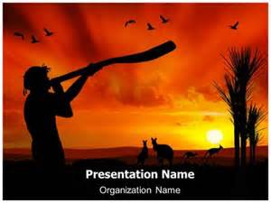 aboriginal population powerpoint template background