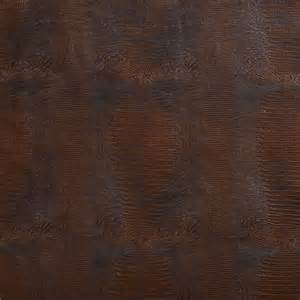 brown textured alligator faux leather vinyl by the yard