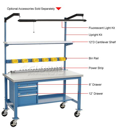 mobile lab bench laboratory work bench mobile 60 x 30 plastic safety