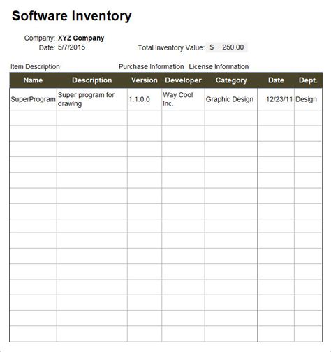 it inventory template it inventory template 15 free word excel documents