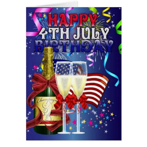 Happy Birthday 4th July Cards 4th July Birthday Birthday On The Fourth Of July Card
