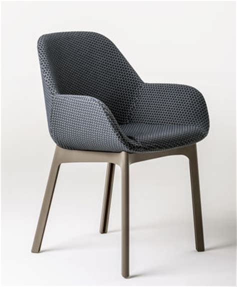 Armchair Fabric by Clap Padded Armchair Fabric Plastic Legs Graphite Tourterelle Legs By Kartell