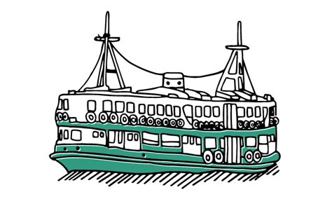 ferry boat cartoon ferry clipart water transportation pencil and in color