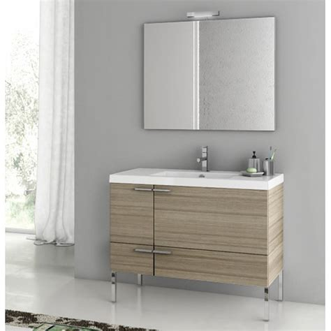 modern 39 inch bathroom vanity set with ceramic sink glossy white zuri furniture