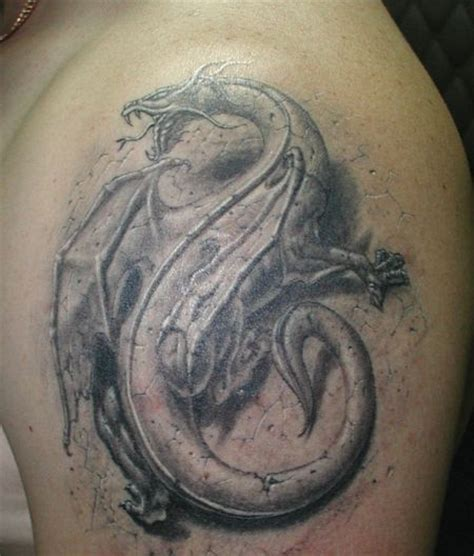 black and gray dragon tattoo designs design black and gray ink 3d style
