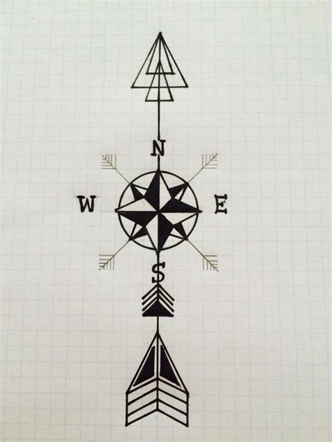 compass with arrow arrow compass design