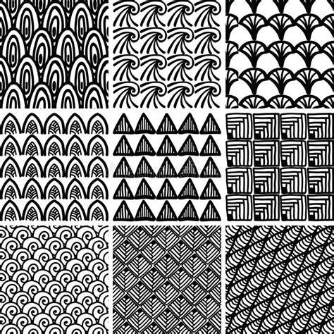doodle print pattern set of doodle patterns stock vector illustration of