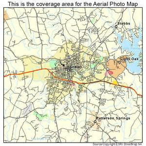 aerial photography map of shelby nc carolina
