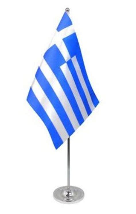 desk flag stand greece desk table flag with chrome stand and base