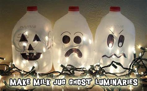 milk jug crafts for home recycled craft glowing ghosts from plastic milk jugs