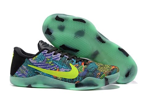 colorful basketball shoes glow in the nike 11 master colorful mens