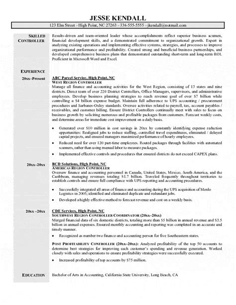 controller resume