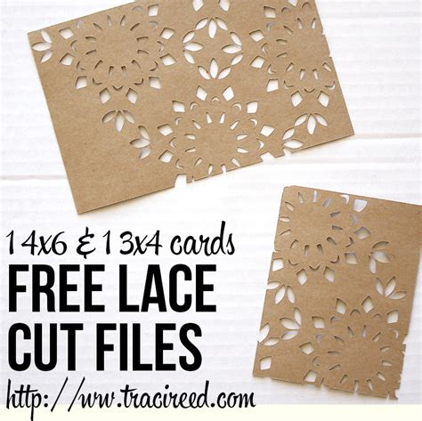 free silhouette cameo christmas cards cut file free 3x4 and 4x6 silhouette lace cut cards from traci reed
