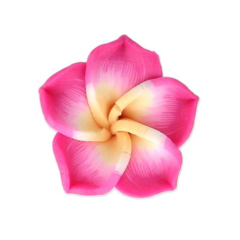 fiore fimo fiore fimo mm 20 fucsia x1 perles co