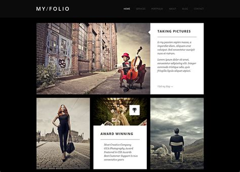 Best Photography Templates 30 free premium html photography website templates