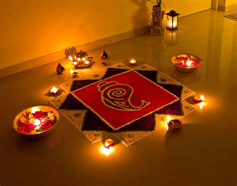 How To Decorate Home Mandir by 25 Easy Rangoli Designs Cathy