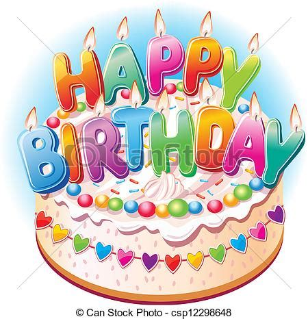 clipart compleanni vettore eps di torta compleanno compleanno