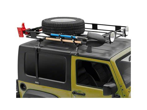 Wrangler Top Roof Rack by Surco Wrangler Safari Removable Top Rack W Basket