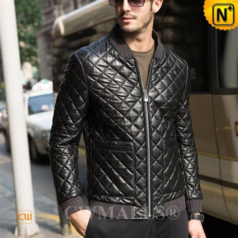 Mens Leather Quilted Jacket by Cwmalls 174 Quilted Leather Jacket For Cw806012