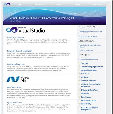 format html code in visual studio 2010 visual studio 2010 and net framework 4 training kit