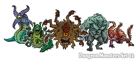 printable paper miniatures d d dungeon monsters set 02 paper miniatures by