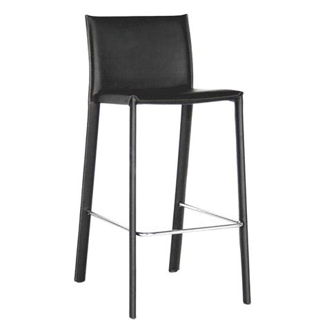 modern leather bar stools baxton studio crawford modern black faux leather