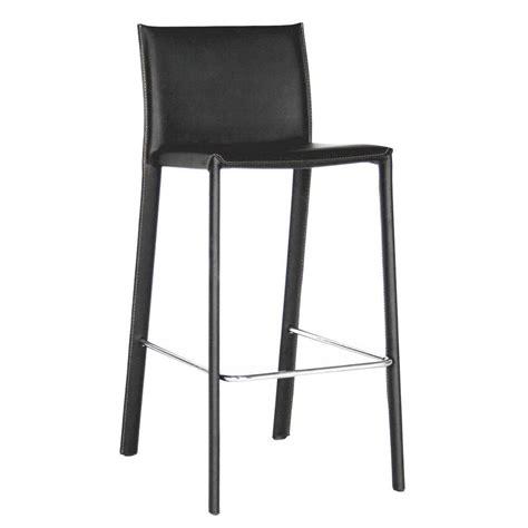 modern leather bar stools baxton studio modern black faux leather