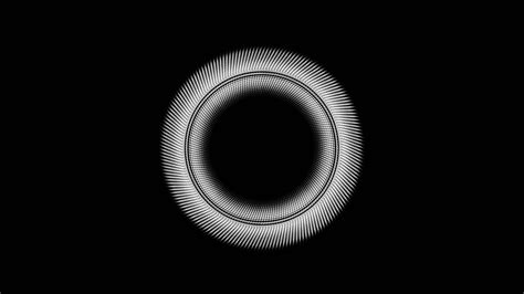 vv circle black  minimal simple pattern background