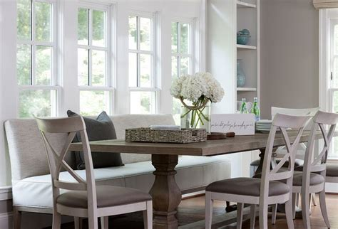 dining room table with sofa seating dining table with upholstered bench and chairs transitional dining room