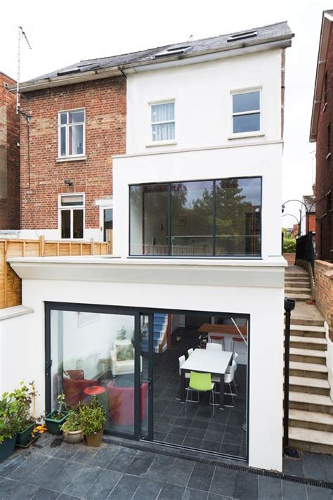 double storey glazed extension  oxford  holland