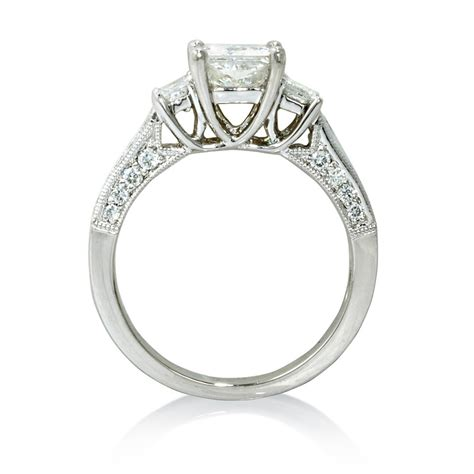 58ct platinum antique style engagement ring setting