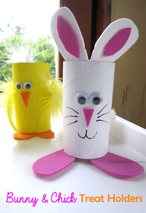 Bunny Toilet Paper Roll Craft - easter treat holders from cardboard
