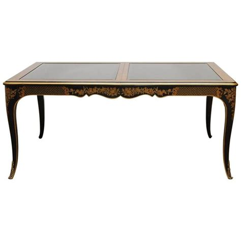 lacquered dining tables drexel et cetera black lacquer chinoiserie dining table